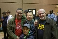Drs. John Pisacane, Nick Nguyen, and Stephen Beveridge with Dr. Nguyen's son, Noah